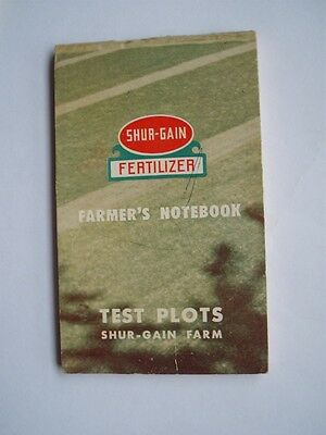 Shur-Gain Fertilizer 1955 Farmers Notebook Calendar Canada Packers Test Plots
