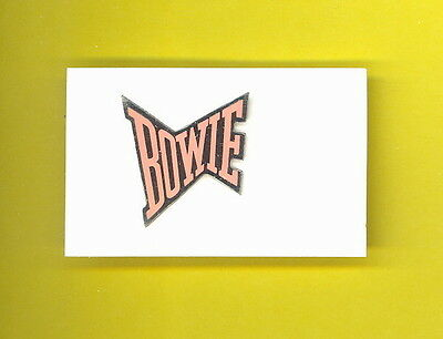 David Bowie 1983 UK bowtie tour enamel badge pinback