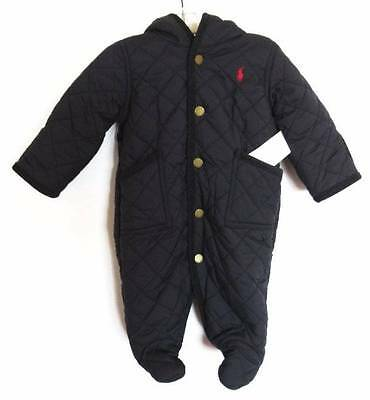 Ralph Lauren Baby Boys Aviator Navy Quilted Barn Bunting (3M) NWT