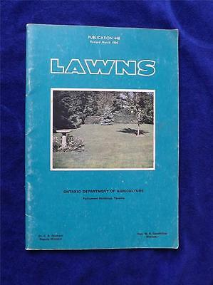 Ontario Department Of Agriculture Booklet Lawns Information Manual 1960
