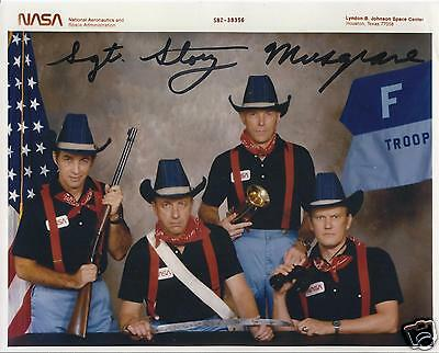STORY MUSGRAVE SIGNED  8x10 SPACE SHUTTLE STS 6  F TROOP PHOTO - UACC AUTOGRAPH