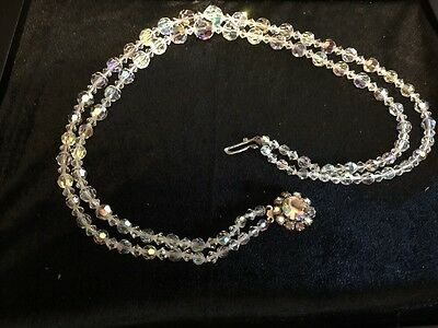 Vintage Double Row Austrian Crystal Necklace