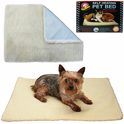 Self Heating Thermal Cat Dog Puppy Mat Bed Animal Pet Warm Washable Rug