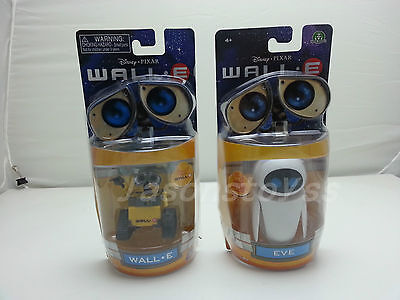 Disney Pixar Toys WALL-E Yellow Robot & WALL-E Girlfriend EVE Action Figur Neu