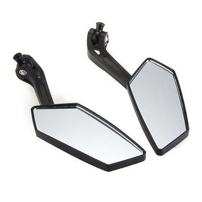 2 X Universal Motorcycle Rear View Mirrors Black 8mm 10mm for Honda FP5