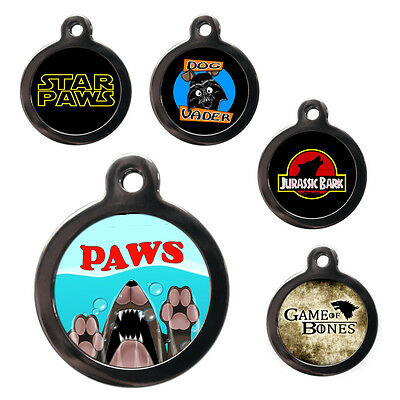 Cute Fun Pet Dog Cat ID Collar Tag - Engraved FREE - Pet Tags
