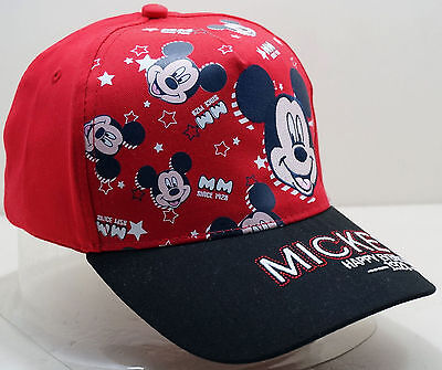 Embroidered Mickey Mouse Kids Boys Girls Adjustable Baseball Hat Cap