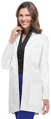 "Cherokee Women's Long Sleeve Pocket Notched Lapel 32"" Stylish Lab Coat. 1462A"
