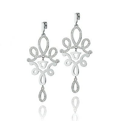 Gioielli Morellato Arabesco Silver Drop Earrings with Crystals SAAJ19