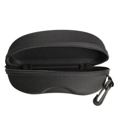 Simple Black Zipper Eye Glasses Sunglasses Hard Case Box Portable Protector