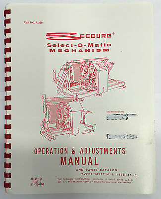 Jukebox Manual Seeburg Select-O-Matic Mechanism Operation & Adjustments Amr R386