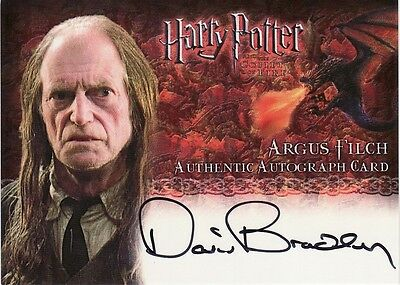 Harry Potter Goblet of Fire David Bradley as Argus Filch Auto Card