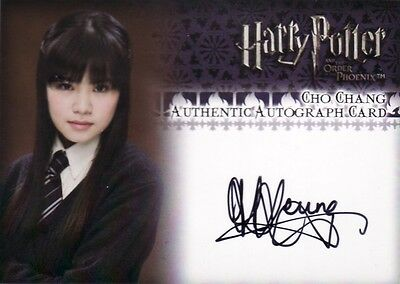 Harry Potter Order of the Phoenix Katie Leung as Cho Chang Auto Card