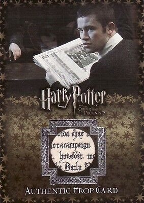 Harry Potter Order of the Phoenix Update Daily Prophet P5 Prop Card