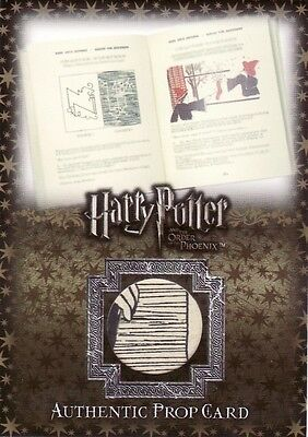 Harry Potter Order of the Pheonix Update Dark Arts Book Page P4 Prop Card
