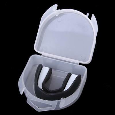 Black Teeth Dental Protector Mouth Guard Piece for Boxing Free Size