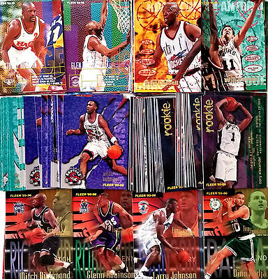 Lot 124 Cartes NBA basket cards Fleer Série II 1995 1996 Rookie Firm Foundation