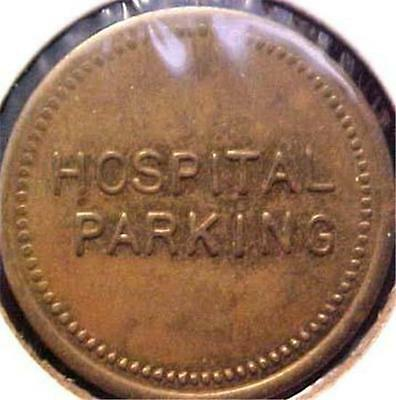 "Mount Holly-New Jersey-City Hospital-7/8"" Parking Token = 7194"