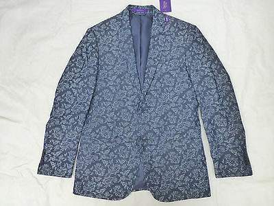 Nwt Mens Tallia Jacket Coat Blazer $225 Blue Paisley