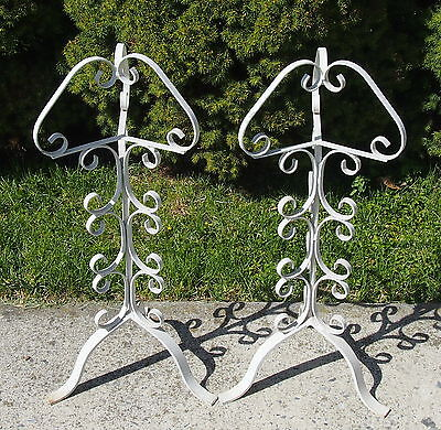 2 Unique VTG Wrought Iron Stands for Plant Fish Bowl Smoking  or Your Guess Chic