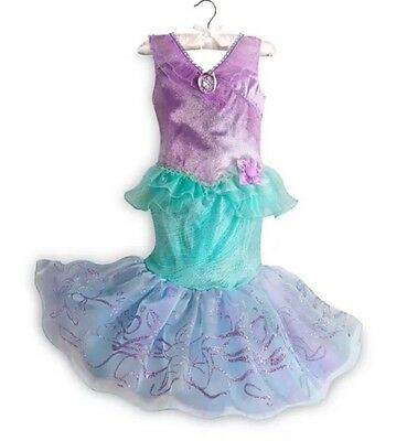 New Disney Store Ariel The Little Mermaid  Costume Dress Up  Girls Size 5/6