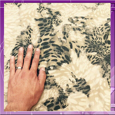 Animal Print Leopard Denim Fabirc 43 Inches Wide Sold By The Yard