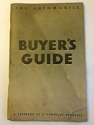 Vintage 1936 The Automobile Buyer's Guide by General Motors Booklet