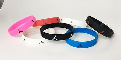 SET OF 5 JORDAN SLIM WRISTBAND SILICONE BRACELET SKINNY MICHAEL THIN 0.4 Inches