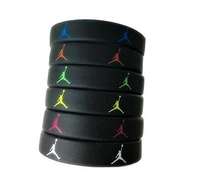 SET OF 3 JORDAN SLIM WRISTBAND SILICONE BRACELET SKINNY MICHAEL THIN 0.4 Inches