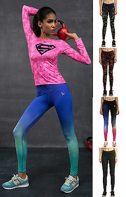 Women's Compression Leggings Workout Base Layer Running Fitness Yoga Pants