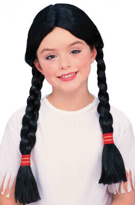 Brand New Child Native American Indian Princess Costume Wig (Black)