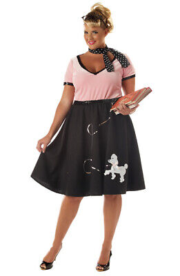 Brand New Grease 50's Sweetheart Poodle Skirt Plus Size Adult Halloween Costume