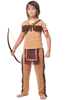 Brand New Native American Brave Indian Warrior Child Costume