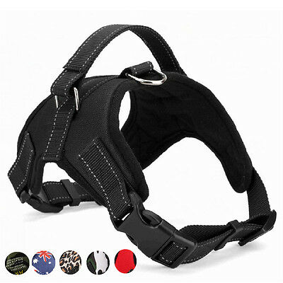 Large Dog Harness Soft Reflective Harness Pet Walk Out Hand Strap Vest Collar