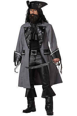 Brand New Blackbeard The Pirate Captain Adult Costume