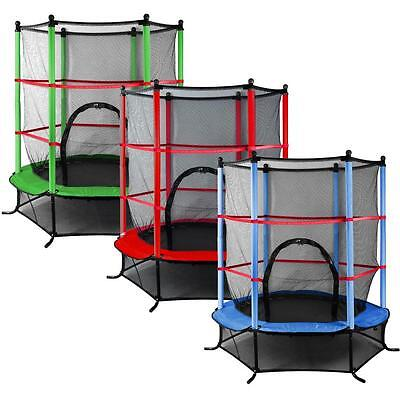 """Junior Trampoline With Enclosure Safety Net Kids Activity 4.5FT 55"""" Outdoor UK"""