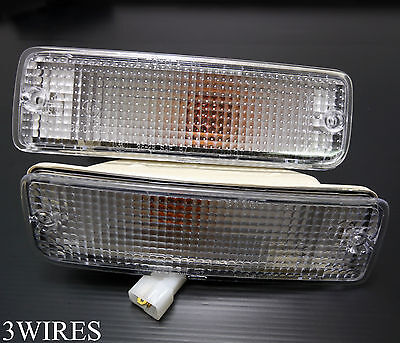 CLEAR Lens Front Bumper indicator light lamp For Toyota Hilux Mk3 LN105 YN106