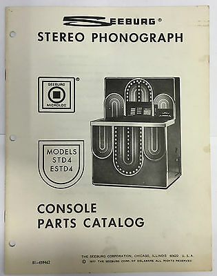 Jukebox Manual - Seeburg Parts Catalog Models Std4 & Estd4