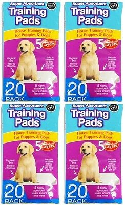 80 x Super Absorbent Large Puppy Pet Training Pads 60 x 45cm 5 Layers!