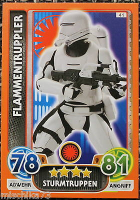 Topps Star Wars- Force Attax Extra Karte Nr.41 Flammentruppler