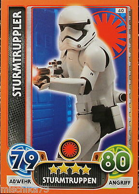 Topps Star Wars- Force Attax Extra Karte Nr.40 Sturmtruppler
