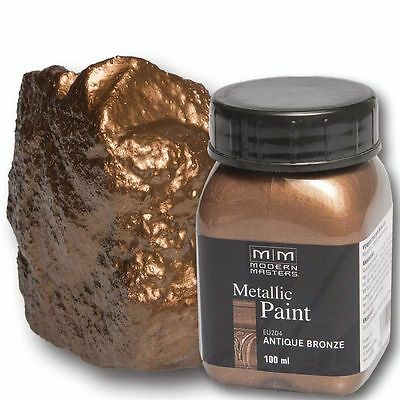 Antique Bronze Metallic Paint 100ml Modern Masters Metallfarbe Metalleffekt Acry