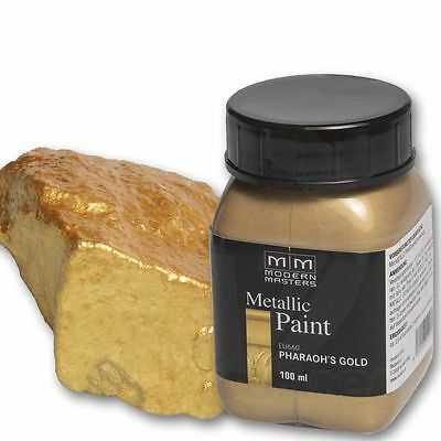 Pharaos Gold Metallic Paint 100ml Modern Masters Metallfarbe Metalleffekt Acryl