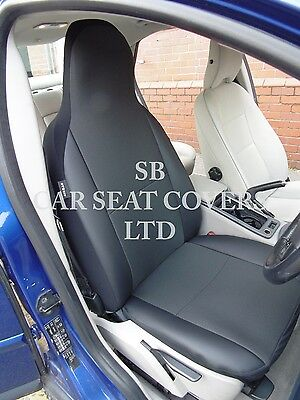 To Fit A Citroen Berlingo Car Seat Covers, 2007, Rossini Anthracite/Leatherette