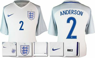 *2016 - Nike ; England Home Shirt Ss / Anderson 2 = Size*