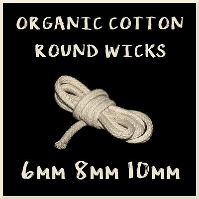 100% Organic Cotton Round Wick for Oil Spirit Paraffin Kerosene Lamp Torch C2O