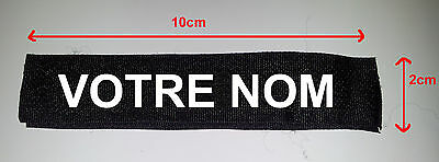 PATCH SCRATCH  NOIR -NOM- TAG PSEUDO Airsoft NAVY SEAL POLICE US ARMY PAINTBALL