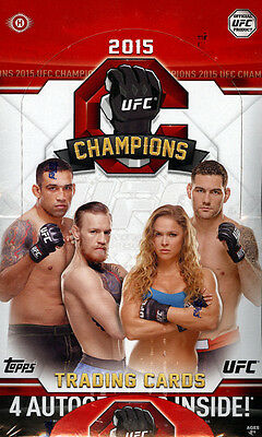 2015 Topps UFC Champions Hobby Factory Sealed 4 Box Lot