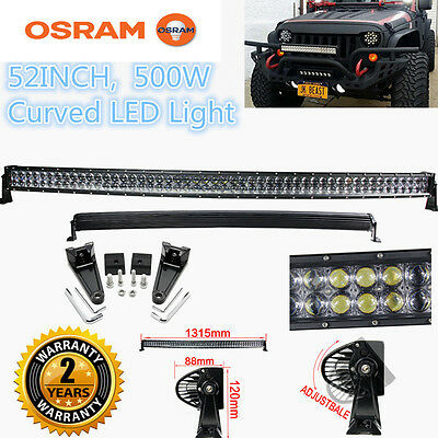 "Xmas! 500W 52"" Curved LED Combo Work Light Bar Offroad Driving 4WD Truck ATV"