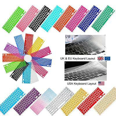 Silicon Rubber UK / USA Keyboard Skin Cover for Apple Macbook Air Pro Retina